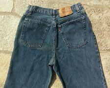 VTG! LEVIS 17501 0167 Women's HIGH WAIST BUTTON FLY Blue Jeans Sz 13M W=27 L=31