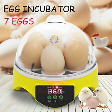 7 Digital Mini Egg Incubator Automatic Clear Bird Chicken Duck Hatcher
