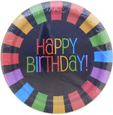 Black Rainbow Birthday Paper Plates, 8ct - Unique Ind. 12495 - Free Shipping
