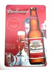 KING BUDWEISER METAL TIN SIGNS pub bar garage retro kitchen beer lager