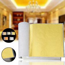 100 Goldfolie Schlagmetall Blattmetall Blattgold Vergoldung Kunst Handwerk Dekor