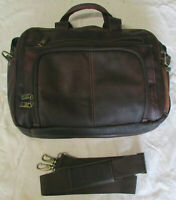 Vintage Samsonite Soft Brown Leather Laptop Carry On Attache Briefcase Satchel