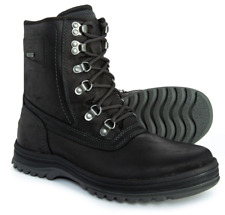 NEW ROCKPORT BLACK WATERPROOF LEATHER BOOTS MENS 9 PLAINTOE BOOT CG9921