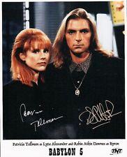 Patricia Tallman Robin Atkin Downes Babylon 5 8x10 Double Signed Photo Autograph