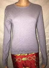 Autumn Cashmere Womens Crew Sweater Lavender/Lilac Size M FREE SHIP
