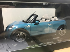Genuine MINI Cooper S Cabrio 1:18 Scale Model in Electric Blue 80 43 2 405 584