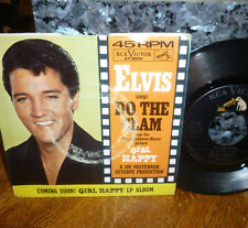 """*<*  RIDICULOUS ELVIS 1965 1st press """"DO THE CLAM"""" CLEAN M- GEM 45 w/PIC SLEEVE!"""