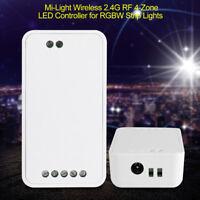 Milight DC12-24V Wireless 2.4G RF 4-Zone LED Controller 30m for RGBW Strip Light