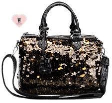 Millan 7120 Sparkling Embroidered Bag - Black and Gold