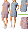 32 Degrees Cool Women's V-neck Short Sleeve Soft Feel Comfy Dress Active Travel
