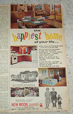 1966 ad New Moon mobile homes -Redman Industries- Dallas Texas VINTAGE ADVERT
