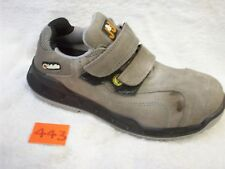 SIZE 8 JALLATTE JALVEGA GREY SUEDE HOOK LOOP SAFETY TRAINER SHOES JEJ11 PR443