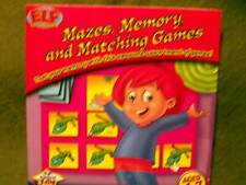 Elf Mazes, Memory, and Matching Games Pc Cd-Rom (English/Spanish) Ages 4-7