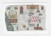 Mint Map Postcard of Liverpool (version 1) by Star Editions