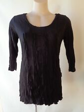 New top Black crinkle EVERSUN size 20 NWT 3/4 sleeves