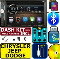CHRYSLER JEEP DODGE BLUETOOTH TOUCHSCREEN USB SD AUX CAR RADIO STEREO PACKAGE