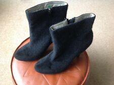 Ladies Very sexy killer heeled boots silky fur pointed size uk 8