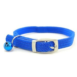 SCOTT Braided Stretch Elastic Nylon Cat Safety Collar with a Bell