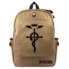 2018 Outdoor Laptop Backpack Print Anime Fullmetal Alchemist School Bag Rucksack