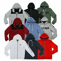 Tommy Hilfiger Mens Hoodie Full Zip Long Sleeve Sweatshirt Jacket Flag Logo New