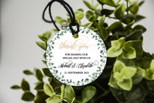 10 White Gift Tags Wedding Favour Bomboniere Personalised Thank You Greenery
