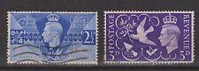 Great Britain nr 231 - 232 used GEORGE VI 1946 VEILING postzegels ENGELAND UK