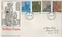 GB STAMPS WILLIAM CAXTON 1976 FIRST DAY COVER FDC - PADDINGTON POSTMARK