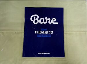 Bare Home Solid Ultra-Soft Microfiber Pillowcase Set King  (Sage Green)