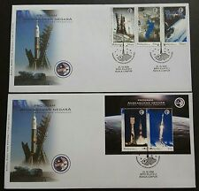 2008 Malaysia Space Rocket Astronaut Angkasawan 3v Stamps & MS on 2 FDC (KL)
