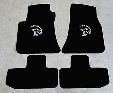 Autoteppich Fußmatten für Dodge Challenger Hellcat ab08' Velours silber 4tlg Neu