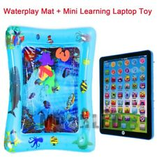 """23""""X20"""" Inflatable Baby Kids Water Mat Novelty Play+Mini Learning Laptop Toy Gif"""