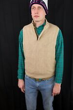Carnoustie Baby Alpacha Sweater Brown Vest Mens Size Medium - Used