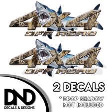 Duck Grass Camo Shark 4x4 Wraps Off Road Decals 2 Pk Sticker Ford truck - D&11BF