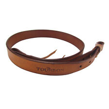 Tourbon Vintage Real Leather European Style Shotgun Rifle Gun Sling Strap Tan