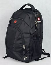 "18""BIG BRAND NEW LAPTOP BACKPACK,COLLEGE SCHOOL BAG, GT10001 BLACK"