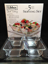 Libbey Just Tasting 5 Piece Clear Glass Condiment Set