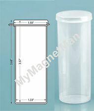 Plastic Craft Storage Vial w/ Hinged Lid 2.5 Ounce Translucent Clear (6 pack)