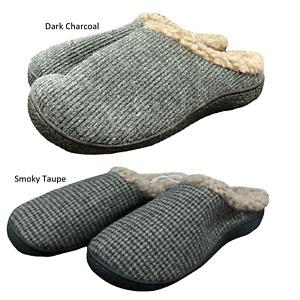 Isotoner Men's Warm Memory Foam Hoodback Slipper