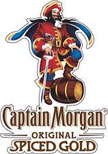 "Captain Morgan Rum Alcohol Bumper sticker, wall decor, vinyl decal,  5""x 3.5"""