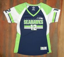 Majestic SEATTLE SEAHAWKS Football Jersey 12TH MAN NFL T-SHIRT Sz Women s  MEDIUM 55cc515a9
