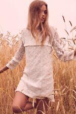 Love Shack Fancy Gia Fringe Victoria Ivory White Lace Dress Size Medium NWT $470