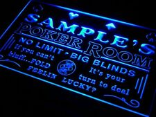 Name Personalized LED Custom Poker Casino Room Home Bar Beer Neon Sign 7 colors