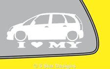 2x LOVE LOW opel Vauxhall Meriva A mk1 VXR OPC silhouette sticker decal LR88