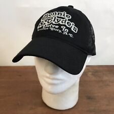 Bonnie & Clyde's Drive In Loafers Glory, NC Black Cotton Strapback Baseball Cap