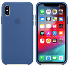 *NEW* DELFT BLUE GENUINE ORIGINAL Apple Silicone Case NEW for iPhone XS