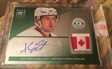 2013-14 Totally Certified Xavier Ouellet Platinum Green Tag Auto 4/5