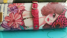 NICOLE LEE Graphic Pebbled Faux Leather Shopping Girl Hard Frame Purses NEW