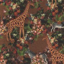 "Dekostoff Samt Stoff ""Velvet Tropical Masterpiece"" Vorhang Kissen Polster 1,28 m"