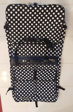 Olympia  Luggage Bag Carry On Collection  Polka Dot Garment  BLACK WHITE NEW