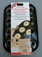 "Norpro Mini Doughnut Pan Non Stick Petite Desserts 13"" X 8""  NEW"
